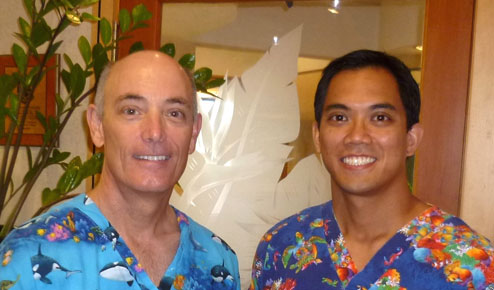 Dr Peter Fay with Dr Erik Wong, Prosthodontists