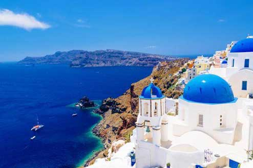 Santorini is known as the 'Miracle Island'