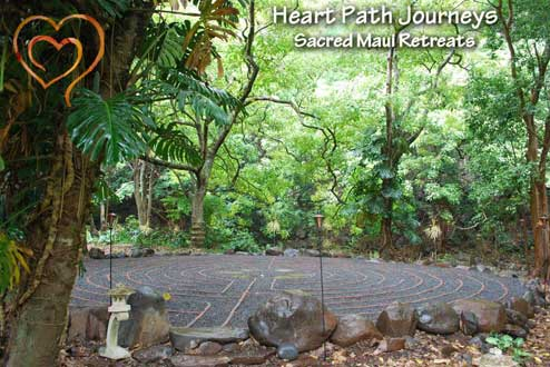 Mandala garden at Heart Path Journeys