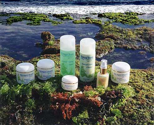 Skin care products made with Maui seaweed