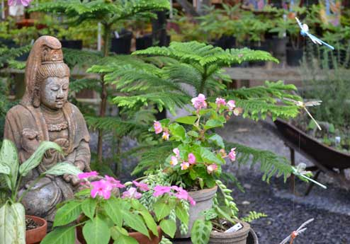 Stone Buddha in the garden